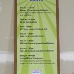 SCBB Giant Dipper ACE Coaster Con schedule sign
