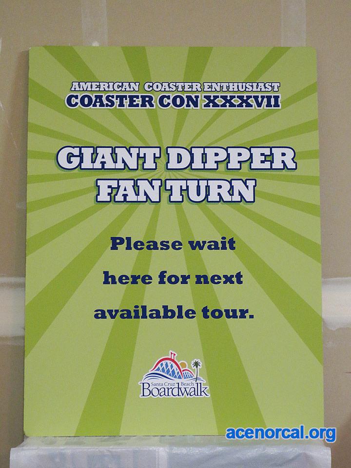 SCBB Giant Dipper ACE Coaster Con fan turn tour sign