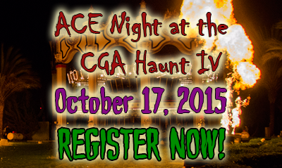 SIGN UP TODAY for ACE Night at the CGA Haunt IV! (10/6/2015)