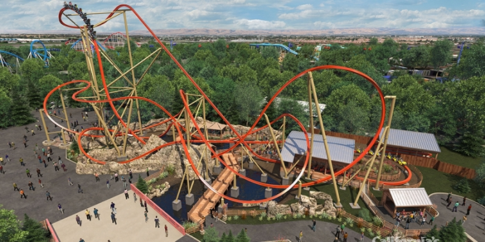 California's Great America Debuts First of its Kind Single Rail Steel Coaster for 2018
